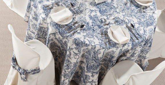 Los tejidos más adecuados en las mantelerías de las bodas de verano