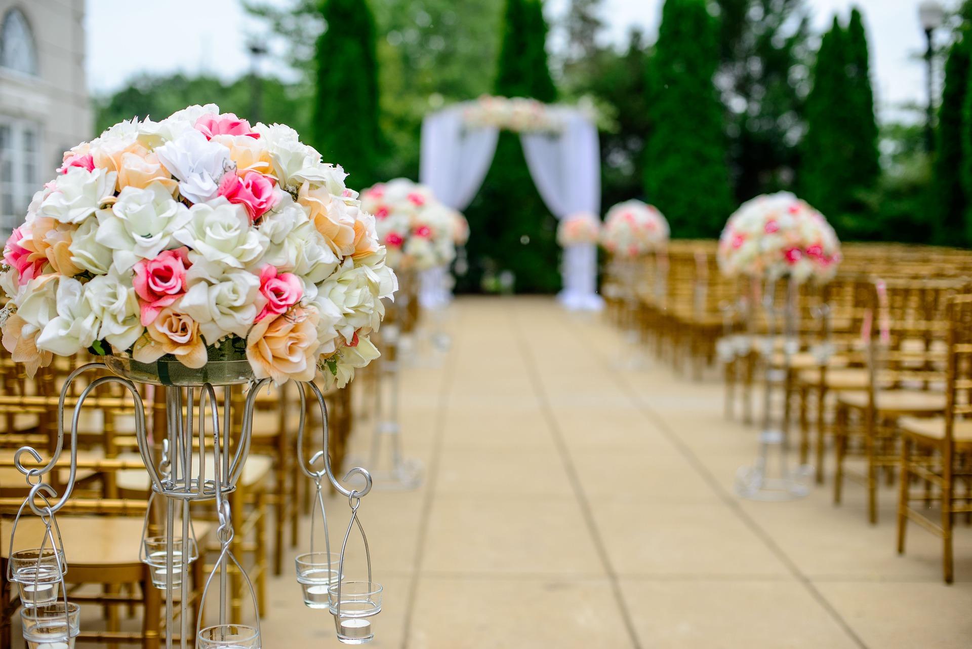 flores en una boda